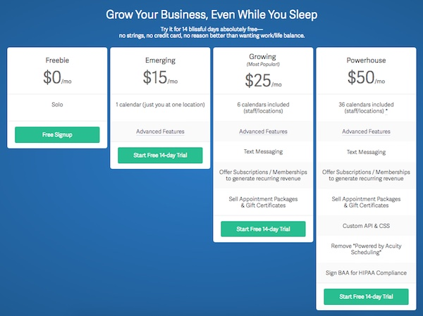 Acuity-Scheduling-pricing