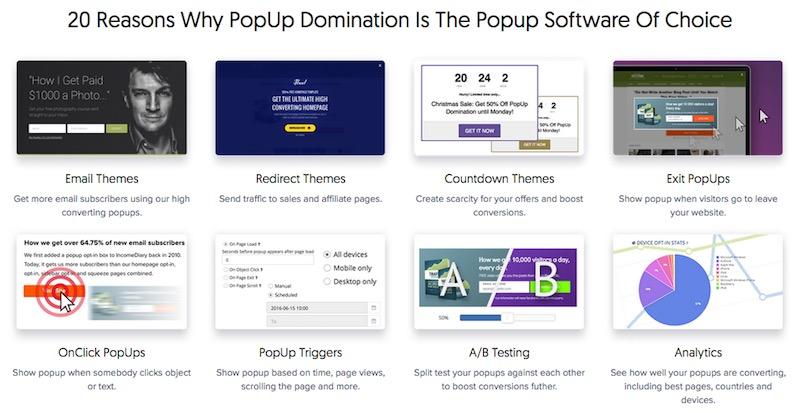Popupdomination-Features